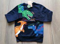 C&A pulóver s.kék, feliratos, dinó mintás Új-címkés (98)