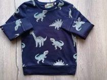 C&A pulóver s.kék, dinó mintás Új-címkés (134)