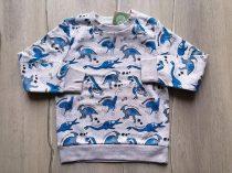 C&A pulóver v.szürke, kék dinó mintás Új-címkés (92)