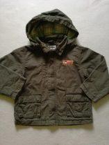 Pepco terepzöld átmeneti kabát kockás béléssel (110)