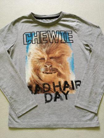 Star Wars Chewie mintás póló, szürke alapon (146)