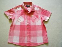 M&S ing rózsaszín-fehér kockás, r.ujjú (110)