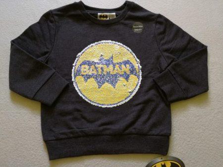 Primark pulóver simogatós Batman mintás ÚJ-címkés (116)