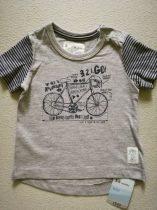 Mothercare póló, bicikli mintás ÚJ-címkés (68)