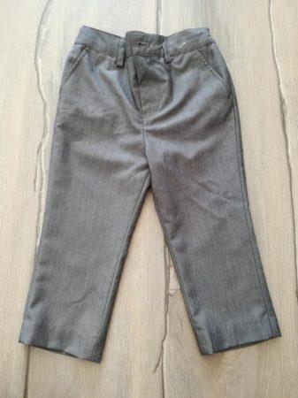 Next nadrág alkalmi, szürke színű (92)