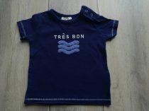 Next póló, s.kék, feliratos, hullámos (68)