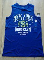 Primark trikó, kék, feliratos ÚJ-címkés (158)