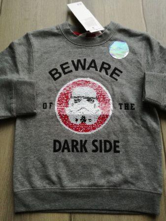 H&M pulóver simogatós Star Wars mintás ÚJ-címkés (110)