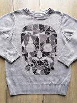 Next pulóver gépi kötött, szürke, mintás (110)