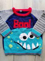 George pulóver kötött, szörnyecske mintás (110)