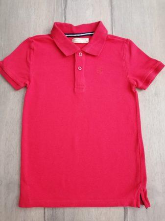 Zara póló rózsaszín, galléros (128)