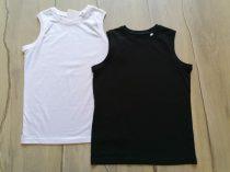 C&A trikó szett 2db-os fekete, fehér Új-címkés (134)