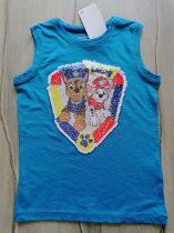 C&A trikó simogatós flitteres mentőkutya mintás Új-címkés (134)