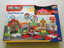 """""""I Builder"""" Tűzoltó autós építőkockás játék ÚJ"""
