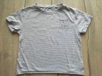 Next póló vékony kék csíkos, feliratos (128)