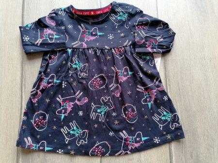 F&F ruhácska s.kék, állat mintás ÚJ-címkés (74)