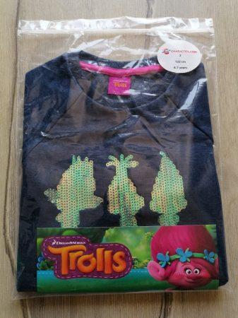 Trolls pulóver flitteres mintás ÚJ-címkés (122)