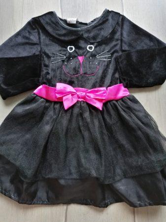 Halloween ruhácska, fekete, cica mintás (98)