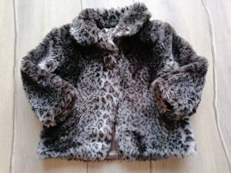 F&F kabát szőrme, párduc mintás (98)