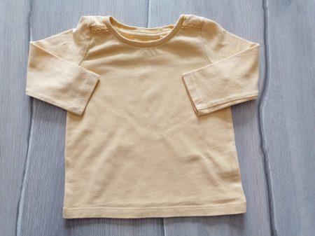 Next póló h.ujjú, sárga színű (68)