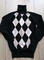 Zara pulóver fekete, kockás, garbós (158)