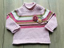 C&A pulóver, kötött, Micimackó dísszel (68)