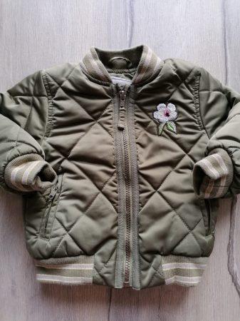 Next kabát/dzseki átmeneti zöld, steppelt (86)