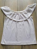 Next tunika/póló fehér színű, fodros (122)