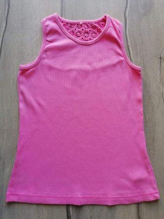 George trikó rózsaszín, horgolt virágos (152)