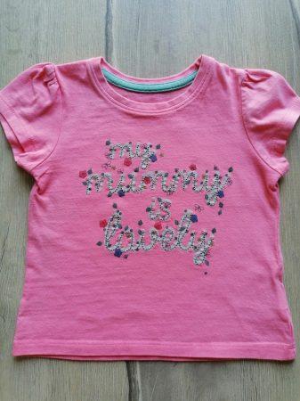 Mothercare póló feliratos, virágos (80)