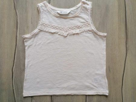 H&M trikó krémszínű horgolt dísszel (146)