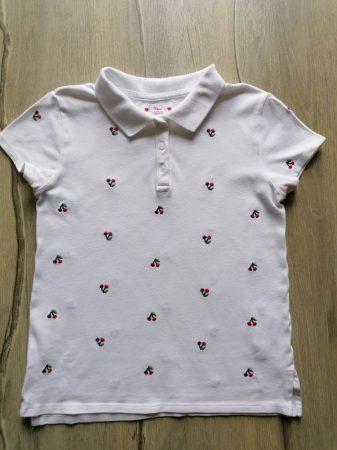 Gap póló fehér, hímzett meggy mintás (152)