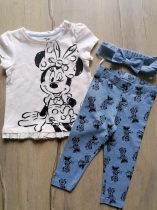 C&A póló+leggings+fejpánt szett Minnie mintás Új-címkés (74)