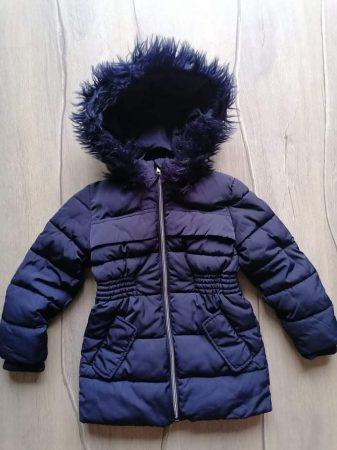 Nutmeg kabát s.kék színű, szőrmés kapucnival (110)