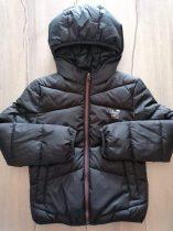 C&A kabát átmeneti, fekete színű, emblémás Új-címkés (128)