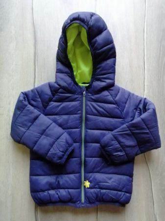 Primark kabát átmeneti s.kék színű, kapucnis (92)