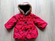 M&S kabát piros, fekete pöttyös (86)
