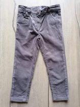 Next nadrág bársony, szürke színű (98)