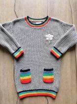 Next ruhácska/tunika gépi kötött szürke színű (92)