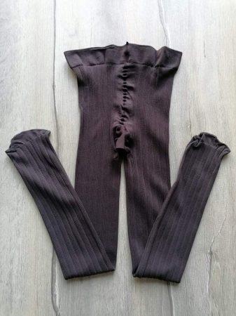 Harisnyanadrág barna bordázott (134)