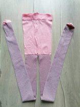 Harisnyanadrág nylon, rózsaszín és csillámos (140)