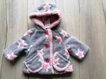 Next kabát szürke, rózsaszín csillagos Új-címkés (74)