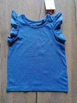 Next póló kék, fodros Új-címkés (80)