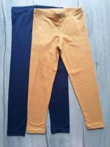 C&A leggings szett 2db-os s.kék, mustár sárga Új-címkés (122)