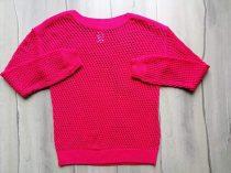 C&A pulóver kötött, lyukacsos (158)