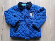 Disney kabát kék, steppelt, Elza dísszel (98)