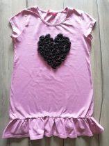 Matalan póló/tunika szív dísszel (158)