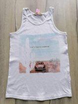 H&M trikó fehér, autós mintával (158)