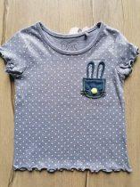 Next póló pöttyös, nyuszi dísszel Új-címkés (80)