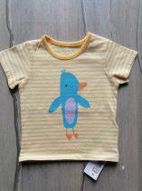 M&S póló sárga csíkos, madár dísszel Új-címkés (80)